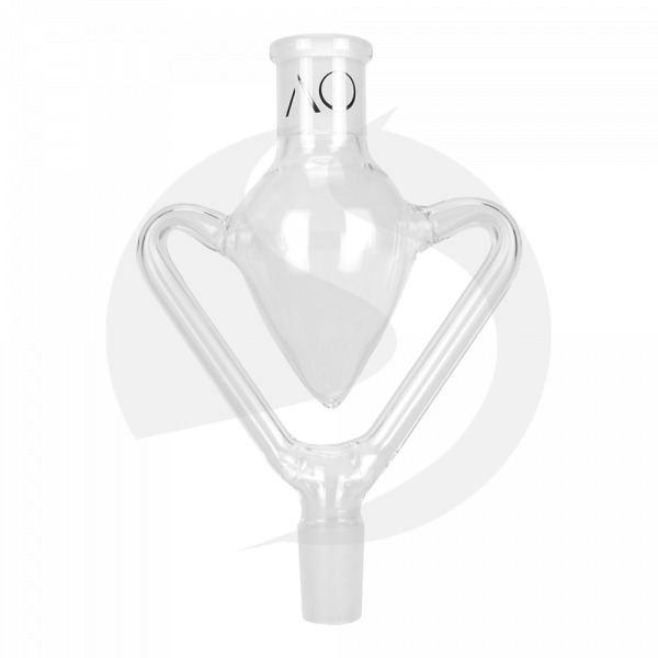 AO Glas Molassefänger 18/8 2-Arms - Clear