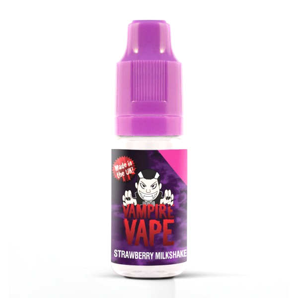 Vampire Vape E-Liquid 10ml 0mg - Strawberry Milkshake