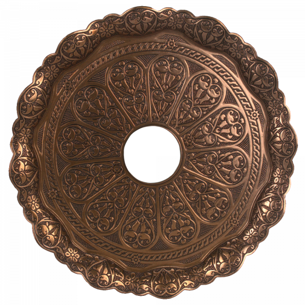 Kaya Tebzi Teller Oriental Bronze 35cm