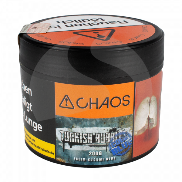 Chaos Tobacco 200g - Turkish Bubbles Code Blue