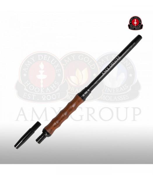 AMY Aluminiummundstück mit Holzgriff MSAL020 - Braun
