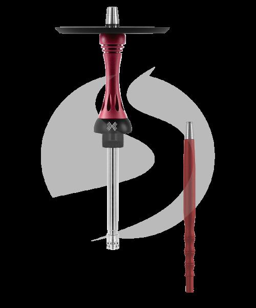 Alpha Hookah Model X Rauchsäulenset - Matt Red