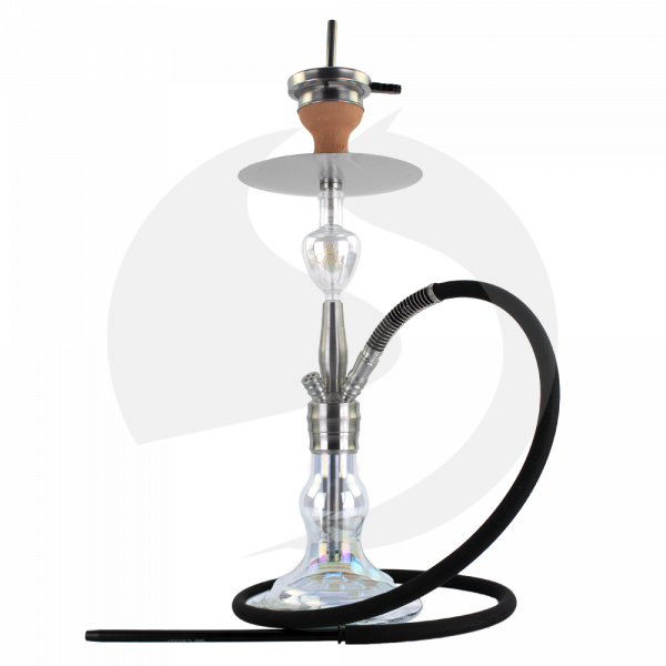 Caesar Shisha Q&D Tornado Edelstahl - Shining Transparent-03 4er