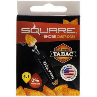 Square E-Hose Kartuschen - Old School Tabac