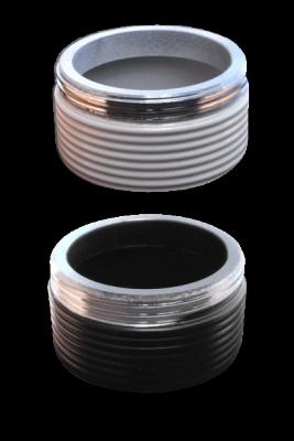 Kaya Grob-Gewinde PN 630, pulverbeschichtet (Black)