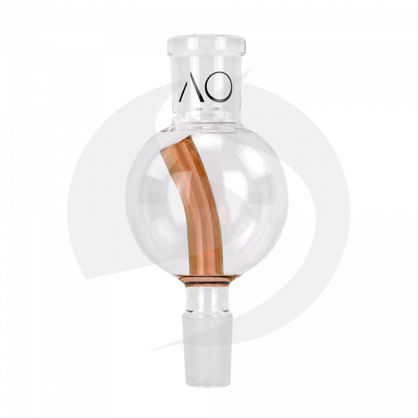 AO Glas Molassefänger 18/8 Kugel 60mm - Stem Amber