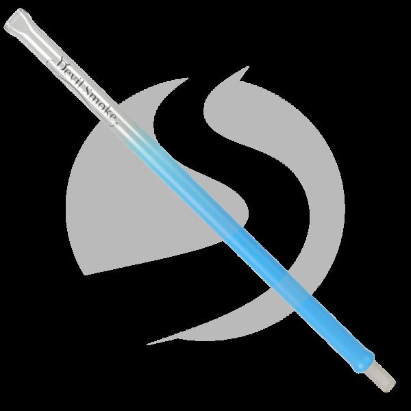 Devil Smoke Glasmundstück - Neon Blue (Flach)