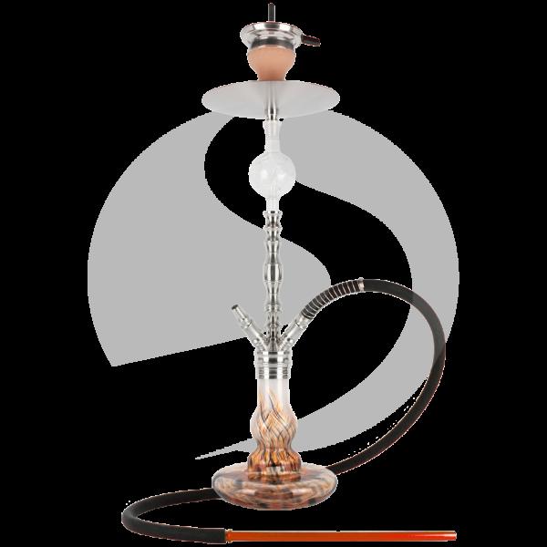 Papa Haram Hookah M05 - Weiß/Orange/Schwarz