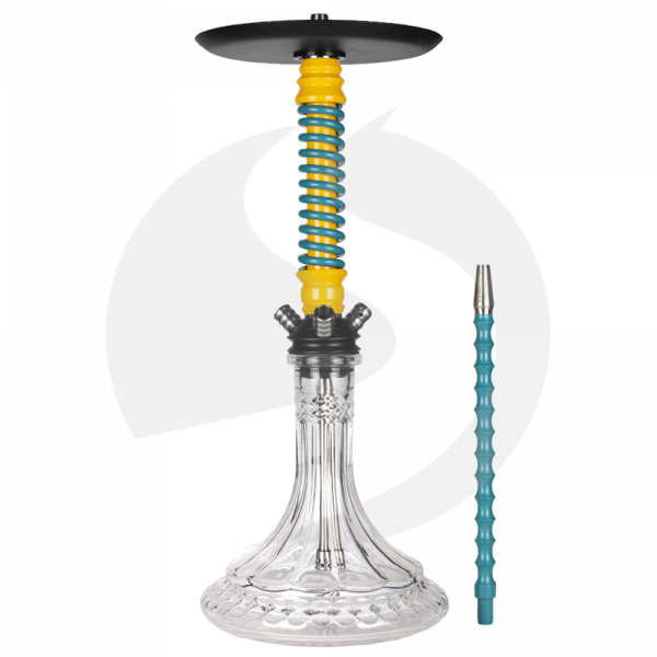 Mamay Customs Coilover Shisha - Yellow/Turquoise(ZB13)
