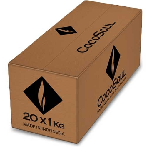 Cocosoul 26er Kokosnuss Naturkohle 20kg
