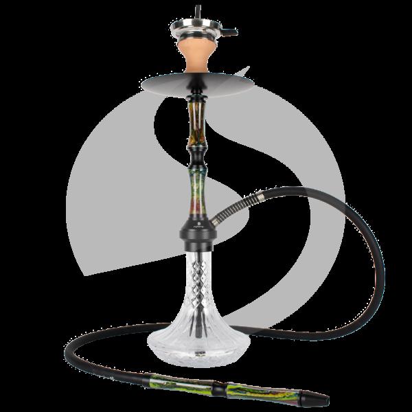 Cyborg Hookah Darf Wader - Black Green Saudi