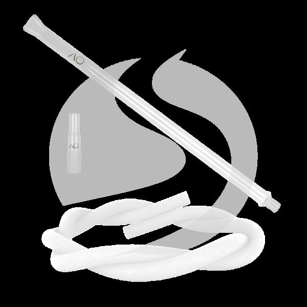 AO Hookah Glasmundstück SET - Flat White