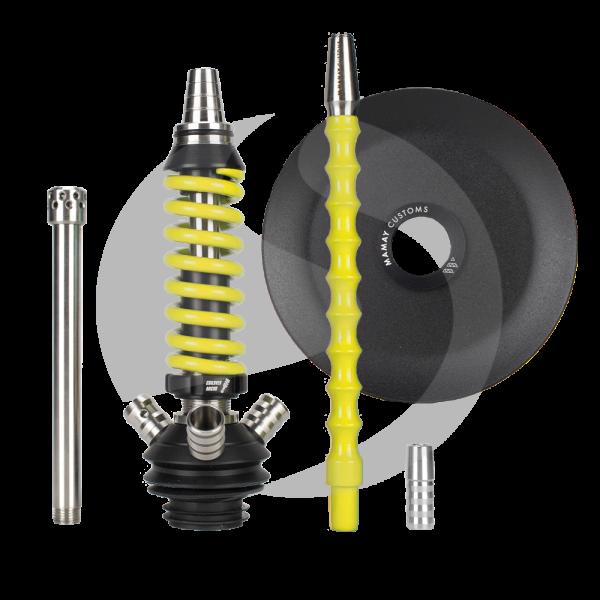 Mamay Customs Coilover Micro Rauchsäulenset - Black/Neon Yellow