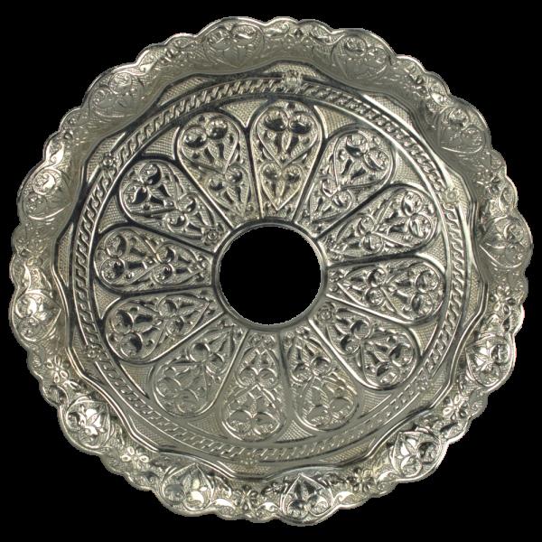 Kaya Tebzi Teller Oriental Silber 22cm