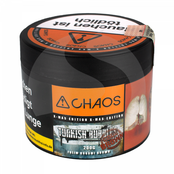 Chaos Tobacco 200g - Turkish Bubbles Code Brown