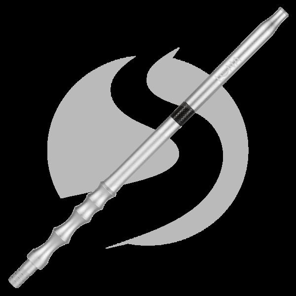 Luna Hookah Steel Tip - Matt Silver/Black